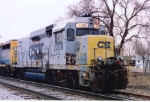CSX 2208 & 6408 parked on siding